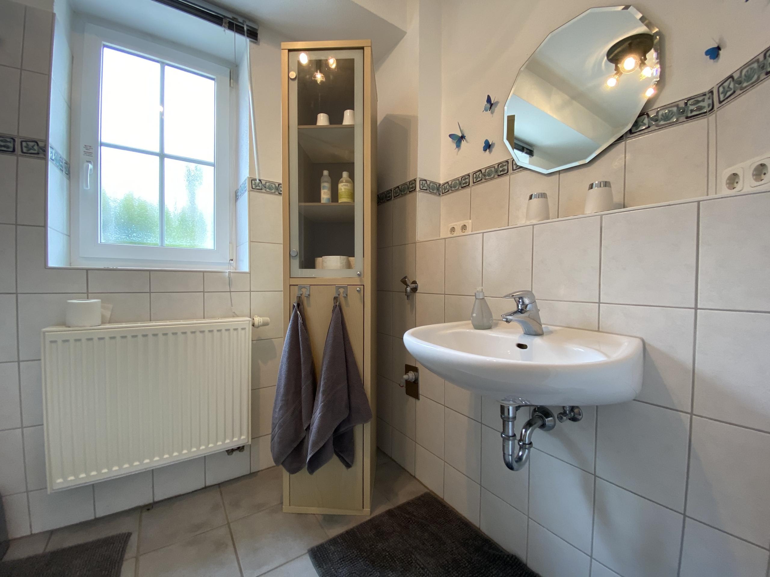 Badezimmer in der Ferienwohnung Harry Haag